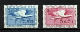 UN New York 1955 Michel 35-36 MNH (**) - New York -  VN Hauptquartier