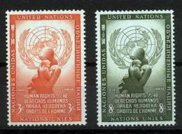 UN New York 1954 Michel 33-34 MNH (**) - New York - Sede De La Organización De Las NU