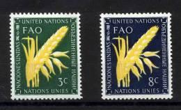 UN New York 1954 Michel 27-28 MNH (**) - New York - Sede De La Organización De Las NU