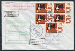 1966 USA Samoa Pago Pago Polynesian Airlines First Flight Cover To Wallis Island - Wallis And Futuna