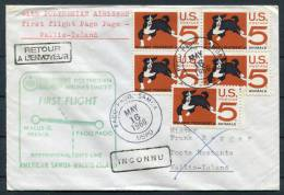 1966 USA Samoa Pago Pago Polynesian Airlines First Flight Cover To Wallis Island