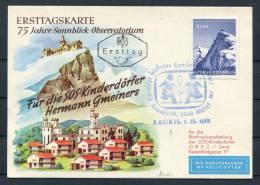 1961 Austria Rauris SOS Kinderdorfer Helikopter Flight Postcard - Helicopters
