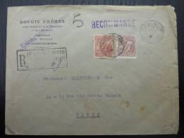 LETTRE RECOMMANDEE DE ST LAURENT DU MARONI GUYANE  1920  => FRANCE THEME OR COVER