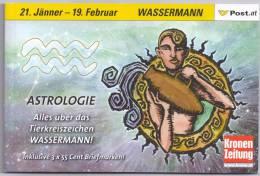 Austria 2005 Astrology Booklet MNH, Sign Aquarius Verseau Wassermann Waterman - Astrologie