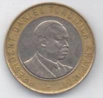 KENIA 10 SHILLINGS 1997 BIMETALLICA - Kenia