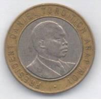 KENIA 10 SHILLINGS 1995 BIMETALLICA - Kenia