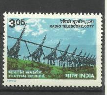INDIA, 1982, Radio Telescope,Ooty , Festival Of India, London, Science And Technology, MNH, (**) - Nuovi