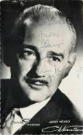 AUTOGRAPHE DEDICACE DE JERRY MENGO CHANTEUR ARTISTE CELEBRITE VEDETTE - Cantanti E Musicisti