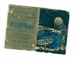 """Calendrier  """" Petit Almanach Pour 1962 """" Coiffeur Fleury Paris Dessin Sur Papier Aluminium - Petit Format : 1961-70"""