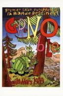2 Cartes -  1er Salon De La BD GRENOBLE 1989 -  Auteurs: Sidney Et Bom-Menu - Cómics