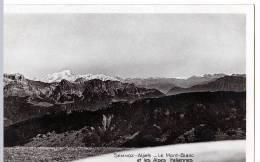 Le Semnoz (Haute-Savoie) Le Mont Blanc, 2 Aspects.   (CPSM, Bords Droits, Format 9 X 14) - France