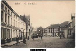 11352g STATION - La Place - CAFE Vve. Clement Billard - Tubize - 1914 - Tubeke