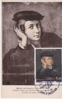 Carte Maximum MONACO  N° Yvert  1391 (RAPHAEL - Portrait D´un Jeune Homme) Obl Sp Ill 1er Jour Sur Belle Carte Ancie1971 - Cartes-Maximum (CM)