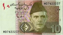 Pakistan 10 Rupees New Banknote 2010 Signature Is Salim Raza - Pakistan