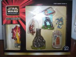 Figurine Star Wars - 4 Magnets 3-D (Aimant) Naboo Figter, Stap Et Battle Droid, Jard Jard Binks, Watto - Episode I