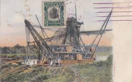 Amérique - Panama - Bâteau Dragage - CIty Of Paris - Largest Dredge - Post Mark - Panama
