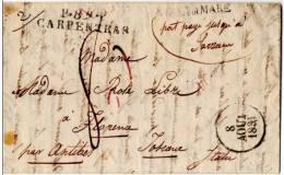 P 89 .P; CARPENTRAS.  . PORT PAYE  . 11PP 41 - 1801-1848: Precursors XIX