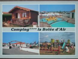"""85 - SAINT-VINCENT Du JARD - Camping """"La Bolée D'Air"""" (Un Chalet - La Piscine - L'Accueil Et Les Jeux Pour Enfants...) - Autres Communes"""