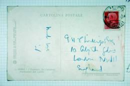 Italy: Rhodes/Rodi, Italian Stamp Used I Rhodes, 1938, To London UK - Aegean (Rodi)