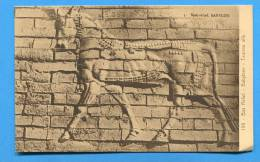 IRAQ. IRAK. BABYLONE Old  Unused Postcard.. Bas Relief . Taureau Aillé - Iraq