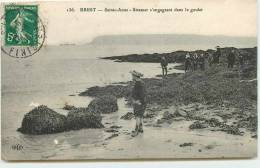 DEP 29 BREST SAINTE ANNE STEAMER S´ENGAGEANT DANS LE GOULET - Brest