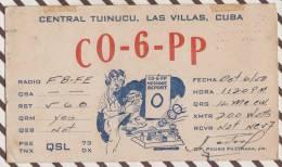 2X2542 CARTE QSL Radio Amateur LAS VILLAS CUBA  TIMBRE TAXE 1950  2 SCANS - Radio Amateur