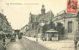 77 - FONTAINEBLEAU - La Rue Grande Et L'Eglise (Coll. Artistique L.M., 210) - Fontainebleau