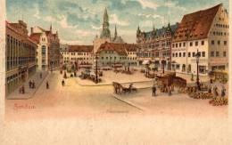 Gruss Aus Zwickau I.S Hauptmarkt 1898 Postcard - Zwickau