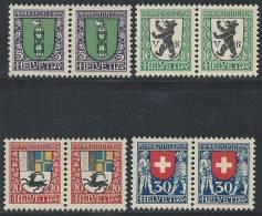 SUISSE - PRO JUVENTUTE - Série 1925 Complète En Paire Neuve LUXE - Nuovi