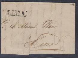O)1841 PERU,LIMA SMALL BLACK STRIKE LINE  TO CERRO - Peru