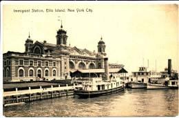 NEW YORK CITY - Ellis Island Immigrant Station Rotograph PC - 1908 - Non Classificati