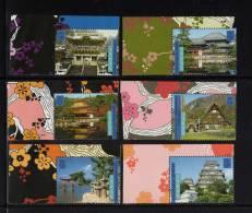Nations Unies New York ONU 2001 Tiré Du Carnet Prestige C857 N° 857** A 862** Patrimoine Mondial JAPON CDF - Non Classés