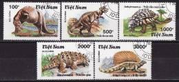 26-973 // 1990   PRAHISTORICAL  ANIMALS  Mi 2191/95 O - Vietnam