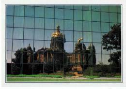 CARTE FICHE  USA     DES MOINES         REFLET DU CAPITOLE SUR LA FACADE DU WALLACE BUILDING - Des Moines