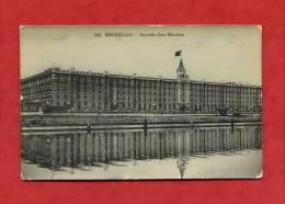 * BELGIQUE-Bruxelles-BRUSSEL-Nouvelle Gare Maritime(carte Glacée)-1909 - Chemins De Fer, Gares