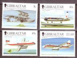 Gibraltar 75th Anniversary Of Air Mail Service Mint NH - Gibraltar