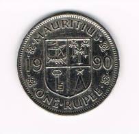 0X MAURITIUS  1 RUPEE   1990 - Maurice
