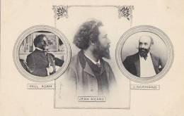 Célébrités - Littérature - Ecrivains - Régionalisme Jean Aicard - Paul Adam J. Normand - Ecrivains