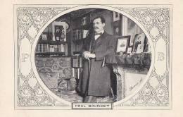 Célébrités - Littérature - Ecrivains - Bureau Paul Bourget - Art Nouveau - Ecrivains