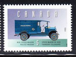 Canada MNH Scott #1605d 5c Reo Police Wagon - Historic Land Vehicles Collection - Unused Stamps