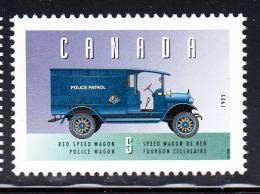 Canada MNH Scott #1605d 5c Reo Police Wagon - Historic Land Vehicles Collection - 1952-.... Regno Di Elizabeth II
