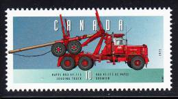 Canada MNH Scott #1605n 10c Hayes HDX 45-115 Logging Truck - Historic Land Vehicles Collection - 1952-.... Règne D'Elizabeth II