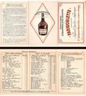 Carte Commerciale Dépliante Distillerie D'Absinthe & Liqueurs Farigoulette à Comps ( Gard )(pub) - Alcools