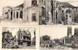 VERDUN- 4 CPA - Ruines - Cathédrale - Séminaire -café Du Balcon - Place De La Cathédrale   (48363) - Verdun