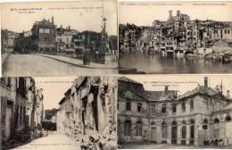 VERDUN- 4 CPA - Ruines De Guerre- Une Rue - L' évéché - La Ville Haute - Le Pont    (48364) - Verdun