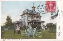 Hawai -  Honolulu - High School - Ecole - Postal Mark - Honolulu