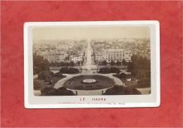 France - LE HAVRE - Photo De 1873 - Jardin Et Rue De Paris - Dimensions 10,6 X 6,7 - 2 Scans - Oud (voor 1900)