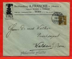 SUISSE ENTIER POSTAL 2C TIMBRE SUR COMMANDE DE 1911 DE BERNE POUR WALDAU - Interi Postali