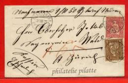SUISSE LETTRE DE 1871 DE ESCHENBACH POUR WALD - 1862-1881 Sitzende Helvetia (gezähnt)