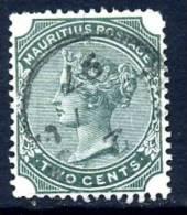 Mauritius QV 1879 2c Green, Fine Used (A) - Mauritius (...-1967)